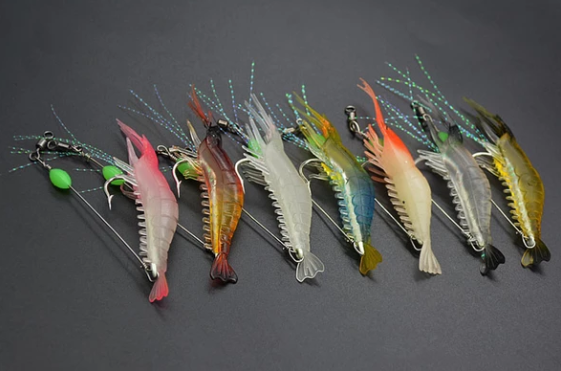 Lifelike Luminous Shrimp Lures 3pcs Set