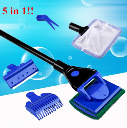Handy 5-in-1 Aquarium Cleaning Tool