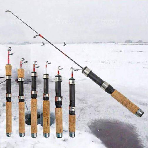 Retractable Ice Fishing Rod