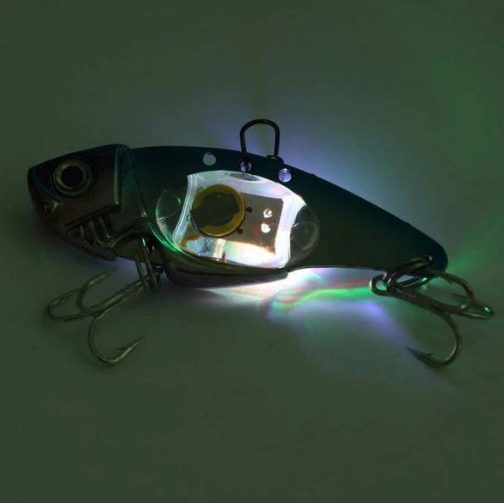 Vibrating LED Flashlight Swimming Fishing Bait