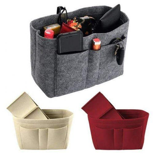 Purse Bag Organizer - declutter handbags easily