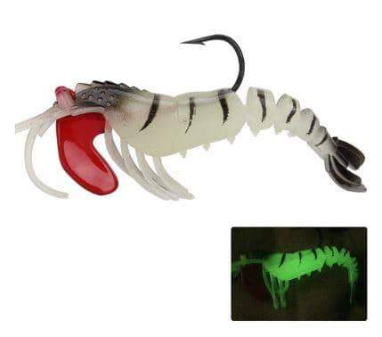 Lead-Head Soft Shrimp Night Light Soft Bait