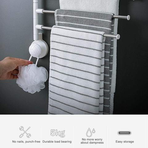 360 Degree Rotating Bathroom Kitchen Towel Shelf