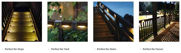 Waterproof Outdoor Solar Deck Lights