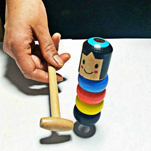 Unbreakable Wooden Man Magic Toy (Immortal Daruma)
