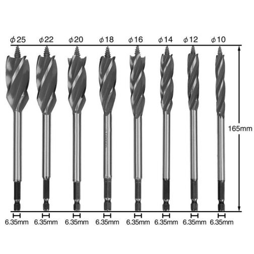 Four-Edged High Carbon Steel Twist Drill Bit