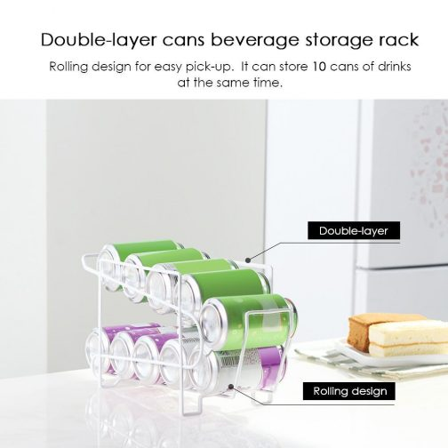 Double Layer Cans Rack