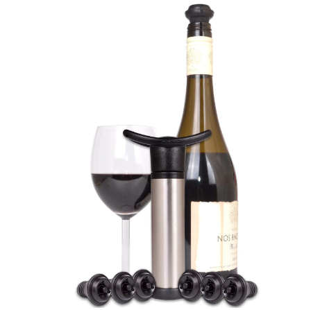 Wine Preserver Vacuum with 6 Stoppers