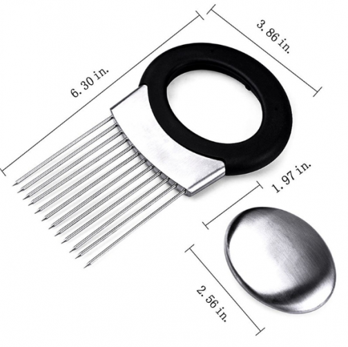 Stainless Steel Onion Holder for Slicing