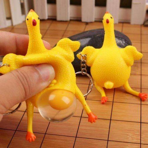 Crazy Squeezy Chicken Toy