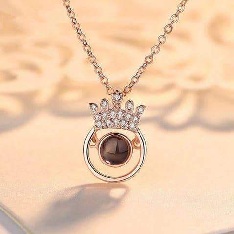 """100 Languages """"I LOVE YOU"""" Crown Necklace"""