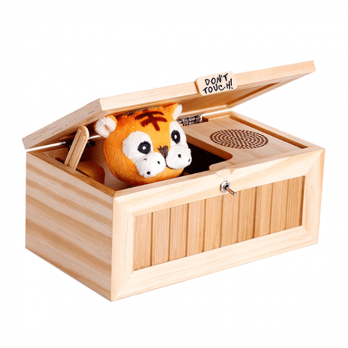 """""""Don't Touch!"""" Wooden Useless Box - funny toy gift idea"""