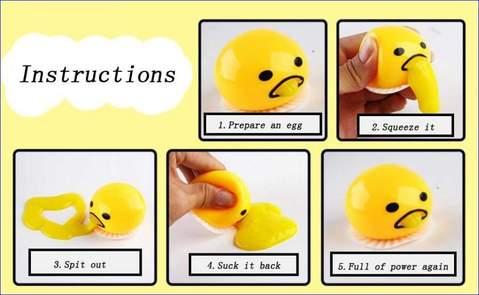 Vomiting Egg Yolk&(Puking Egg Yolk Stress Ball)