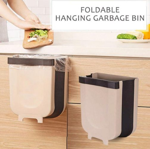 Wall-mounted Folding Trash Can