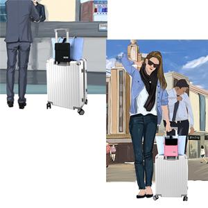 Multi-Functional Travel Organizer Luggage Strap