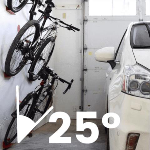25° Bike Wall Rack