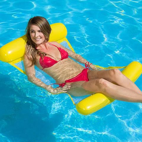 Outdoor Floating Water Hammock - Pool Swimming Lounger Backrest For Adults & Kids