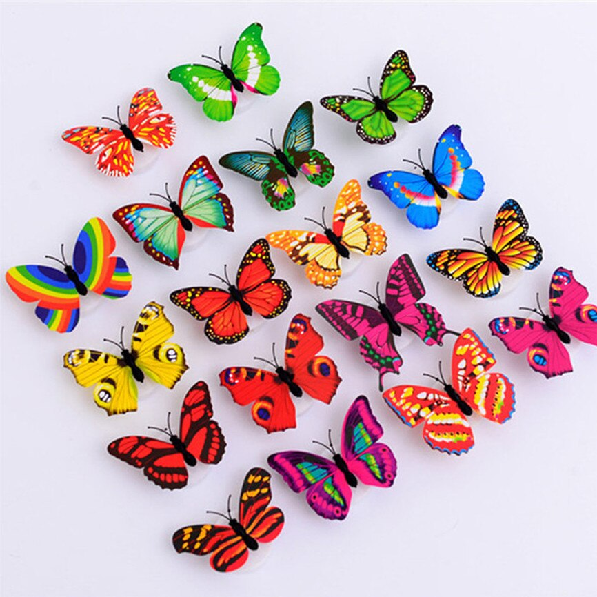 LED Butterfly Lights Wall Stickers