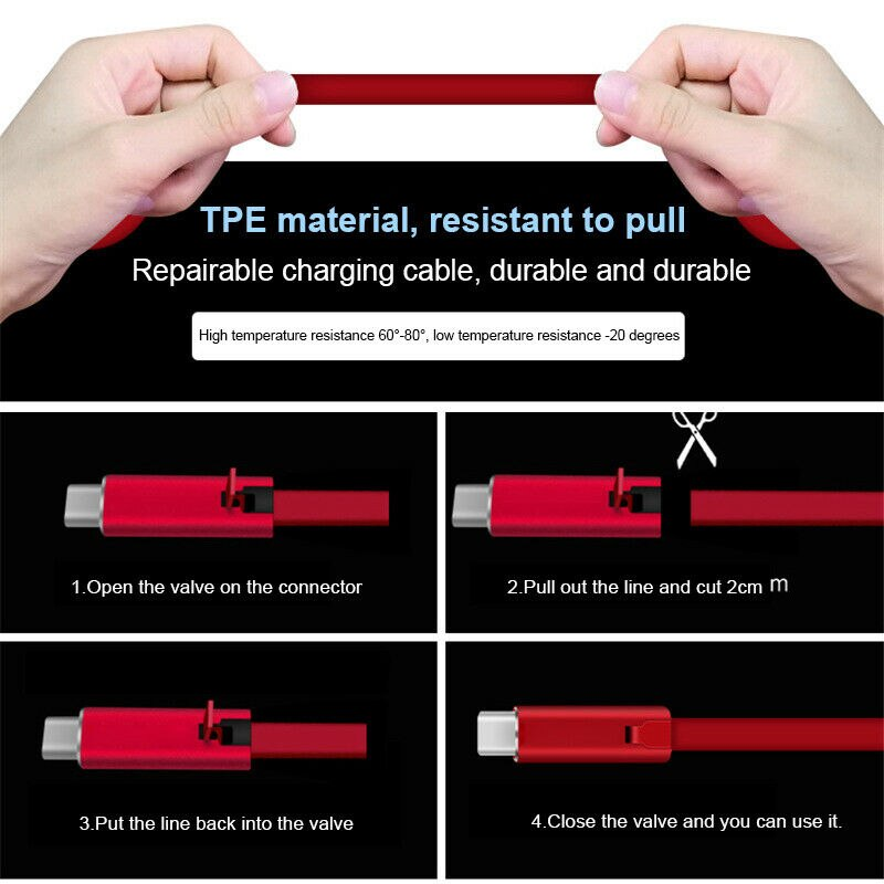 Renewable Fast Phone Charging Cable