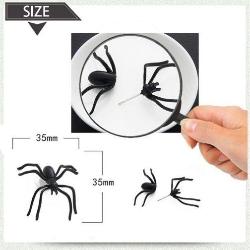 3D Creepy Black Spider Ear Stud Earrings