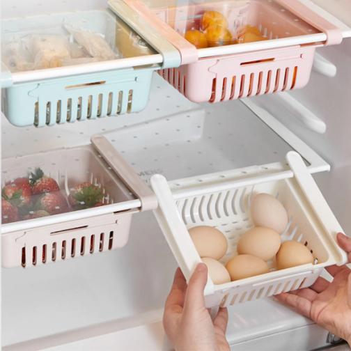 Kitchen Storage Refrigerator Partition Storage Rack