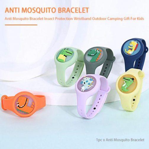 Reusable Cute Cartoon Mosquito Killer Bracelet