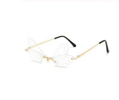 Fashion Trend Personality Dragonfly Wings Glasses