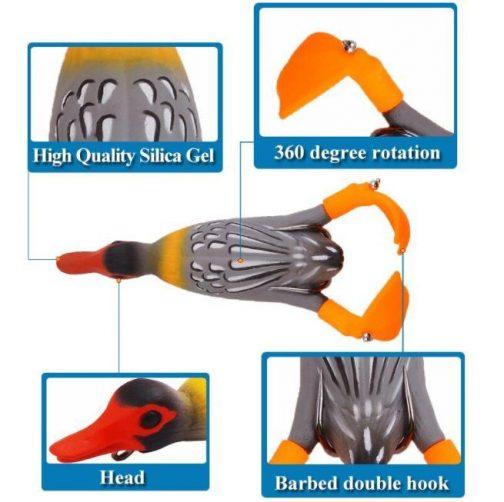 Double Propeller Duckling Soft Bionic Bait