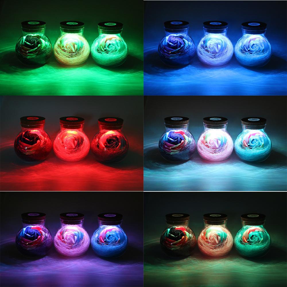 Bloom™ - LED Rose Bottle Lamp