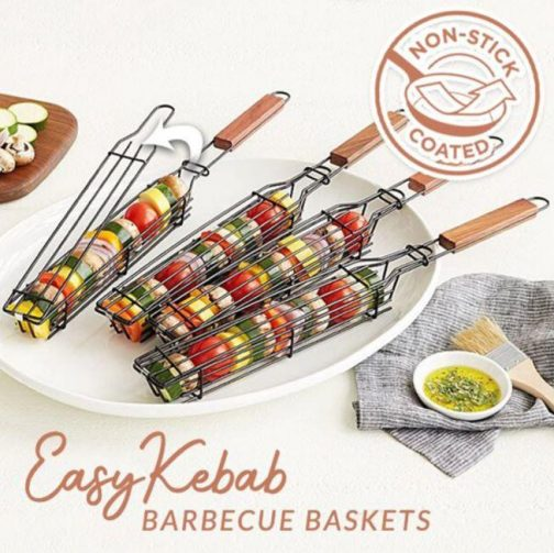 Reusable Kabob Grill Baskets