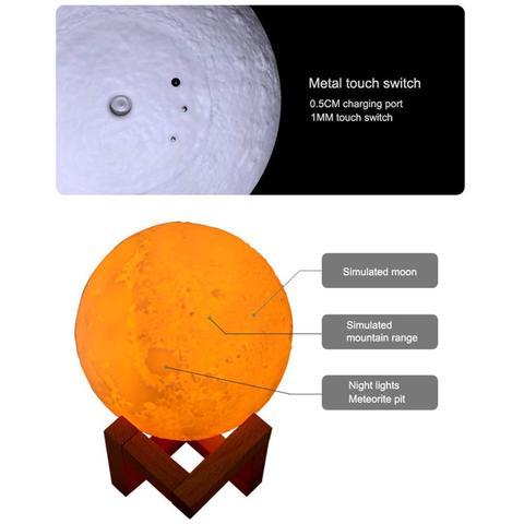 Lunar Light Humidifier - Aroma Diffuser & Mist Maker