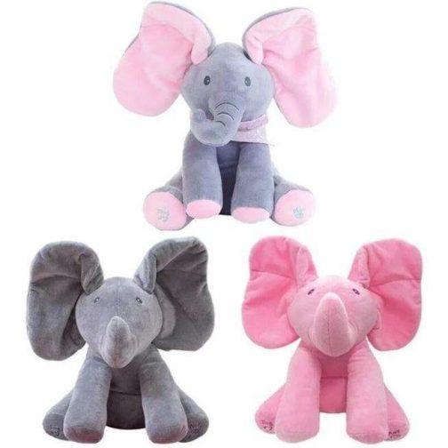 Peek A Boo Stuffed Animal Elephant Plush Toy - no more baby boredom