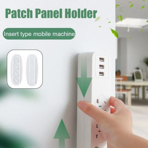 Punch-Free Wall Patch Panel Holder