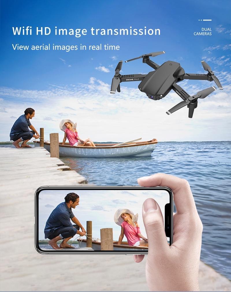 E99 Pro2 RC Mini Drone 4K HD Dual Camera