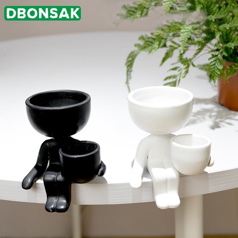 Humanoid Ceramic Flower Pot Vase