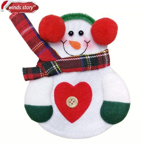 8pcs Christmas Decorations Snowman Kitchen Tableware Holder