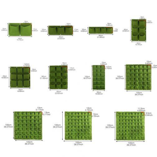 Wall Hanging Planting Pockets