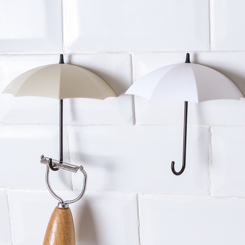 Creative Umbrella Shape Wall Hook Set
