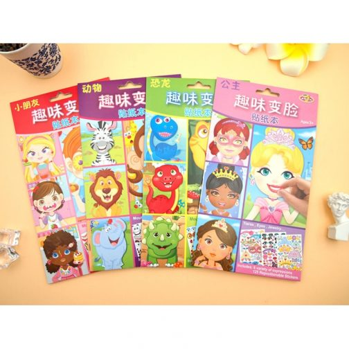 Children Funny Creat-a-Face Puzzle Stickers