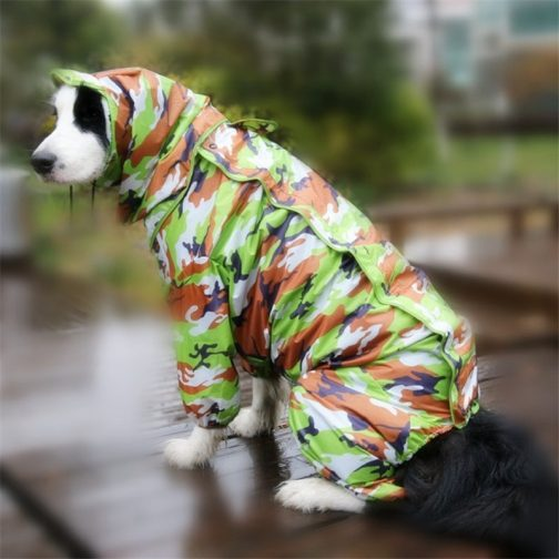 Large Dog Rain Jumpsuit