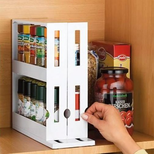Multi-Function Rotating Storage Shelf