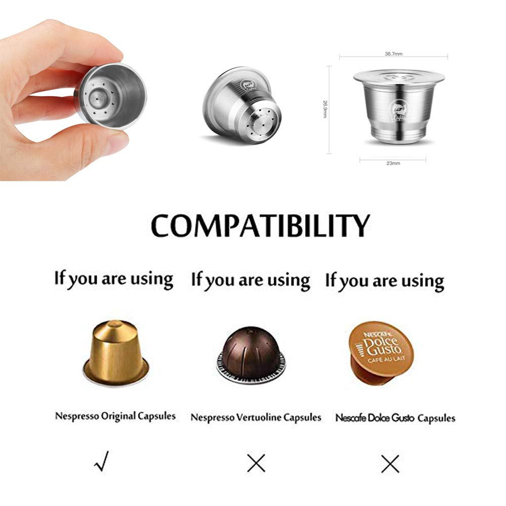 Stainless Steel Capsule Reusable Cups Filter Pods