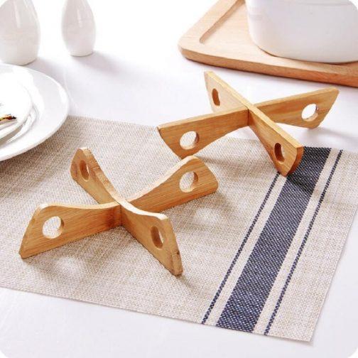 Detachable Wood Tray Rack
