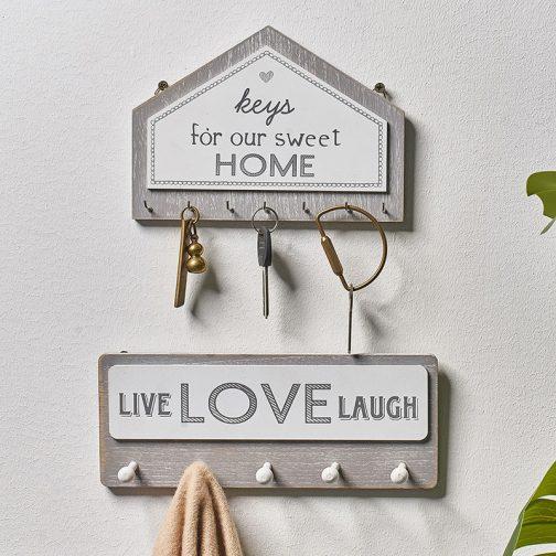 Wall Hanging Wood Key Holder
