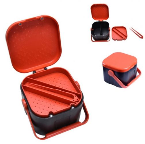 Fishing Live Bait Storage Box With Clip
