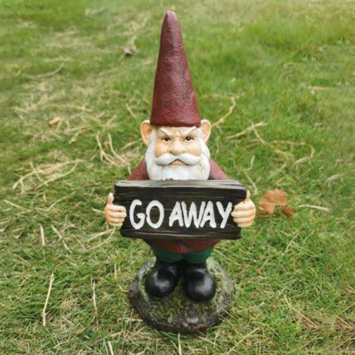 Agostini Resin Go Away Gnome
