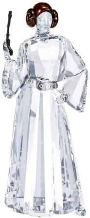 SWAROVSKI Star Wars Princess Leia Crystal Figurine, Crystal, White, 11