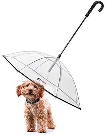 """LESYPET Pet Umbrella Dog Umbrella with Leash, Fits Small Medium Dogs 20"""" Pet's Back Length"""