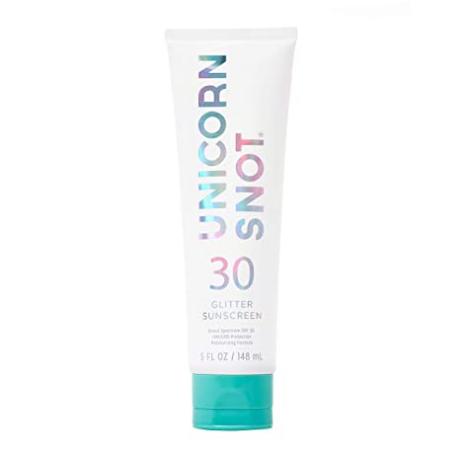 Unicorn Snot Body Glitter Sunscreen - Body Shimmer Moisturizing Lotion w/ SPF 30 - Beach, Outdoor, Festival, Halloween Makeup & Camping Use (Blue) 5 Oz