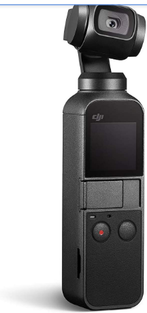 """DJI Osmo Pocket - Handheld 3-Axis Gimbal Stabilizer with integrated Camera 12 MP 1/2.3"""" CMOS 4K60 Video, for YouTube, TikTok, Video Vlog, Streamlabs, Attachable to Smartphone, Android, iPhone, Black"""
